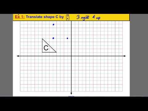 Transformations - translating a shape (1)