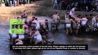 Japan: Mud festival makes holy mess