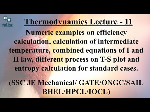 Thermodynamics Lecture 11: process on T-S plot, ideal gas mixture, entropy calculation