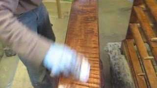 Finishing A Curly Maple Chest Of Drawers - Thomas Johnson Antique Furniture Restoration
