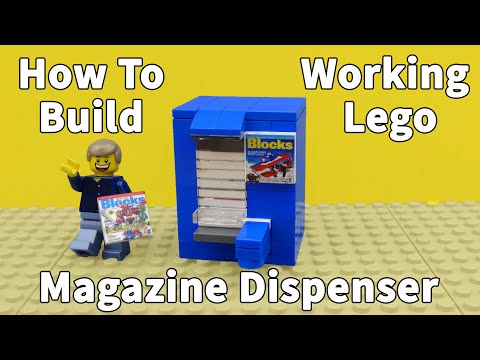 How To Build A Working Lego Magazine Dispenser