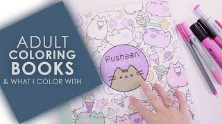 Adult Coloring Books & What I Use to Color
