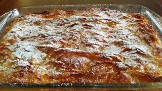 μπουγάτσα γλυκιά συνταγή εύκολη γρήγορη ελληνική, γλυκιά - επιδόρπιο greek bougatsa recipe easy