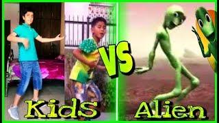 Kids VS Alien DAME TU COSITA Dance Challenge 👽NEW Dame Tu Cosita Musical.ly Challenge!
