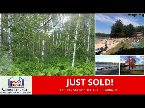 0.46 Acres Residential Vacant Land For Sale Lot 242 Snowridge Trail, Elmira, MI