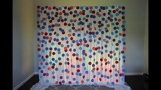 Confetti Backdrop DIY