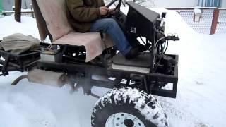 Самодельный полноприводный трактор.часть7