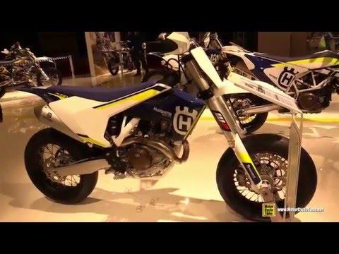 2016 husqvarna fs 450 walkaround 2015 salon de la moto paris youtube. Black Bedroom Furniture Sets. Home Design Ideas