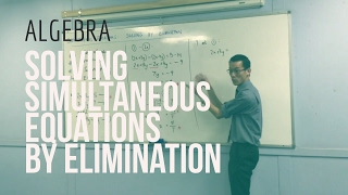 Solving Simultaneous Equations by Elimination (2 of 2: Worked example)