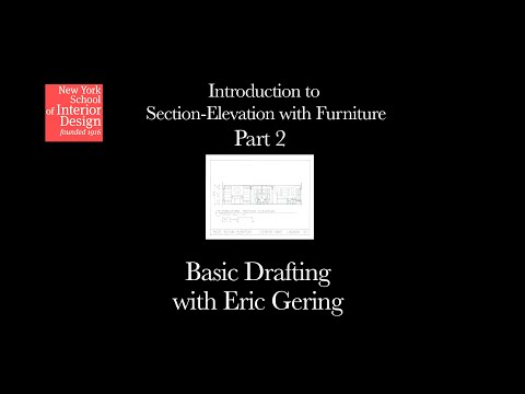 Basic Drafting - Introduction to Section-Elevation with Furniture Part 2