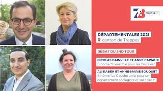 7/8 Politique. Débat du second tour des élections départementales. Canton de Trappes