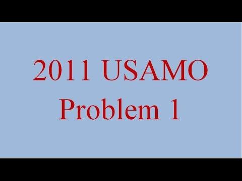 ALG 008 - USAMO 2011 Problem 1