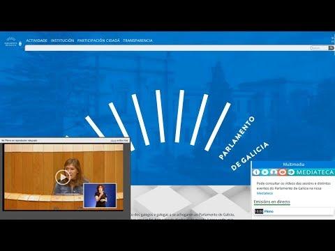 Sesión plenaria del Parlamento de Galicia accesible en LSE