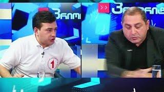 """فيديو..""""خناقة"""" على الهواء بين مرشحين للانتخابات البرلمانية في جورجيا"""