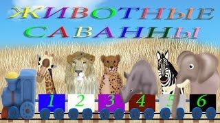 Изучение животных, цвета, цифр. Развивающие мультики Животные саванны
