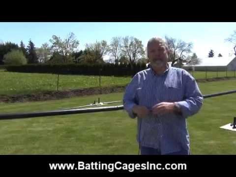 Commercial Model Baseball And Softball Cage Installation Tutorial - Batting Cages Inc