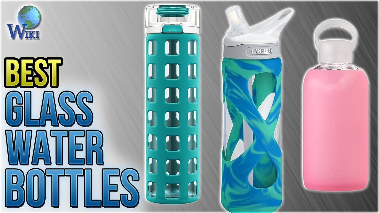 Glass Water Bottle with Silicone Sleeve Green Eco Friendly Dynamis Reusable Glass