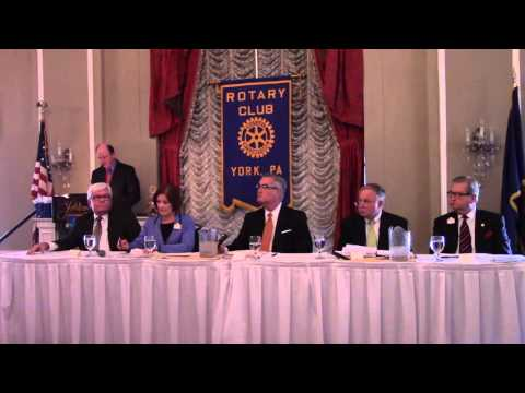 York County Commissioner Forum/Debate, Rotary Club of York, PA, Meeting 10/21/2015