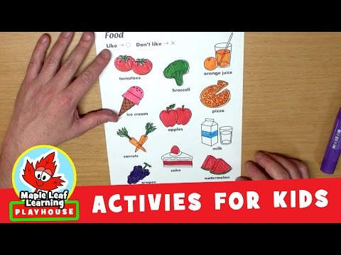 Food Activity for Kids | Maple Leaf Learning Playhouse