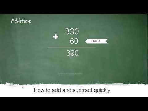 How to add and subtract quickly - Trick to add and subtract easily