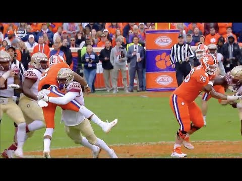 Brian Burns (Florida State DE #99) Vs. Clemson 2017