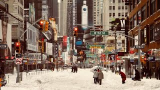 NEW YORK CITY 2018: SNOW changes EVERYTHING! [4K]