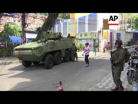 Brazil deploys army to Rio favela in effort to quell violence