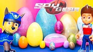 SECRET AGENT Surprise Eggs Secret Agent Chase and Paw Patrol Surprise Eggs Video