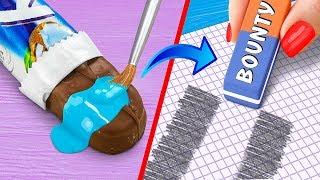 13 пранков и лайфхаков для школы / Как пронести еду в школу