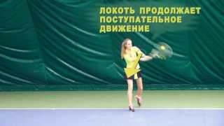 Теннис. Удар слева двумя руками.