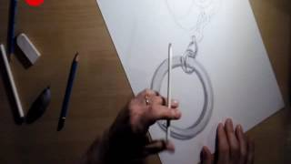 dibujando un llavero dado-como dibujar un llavero dado/how to draw a key chain-drawing a key chain