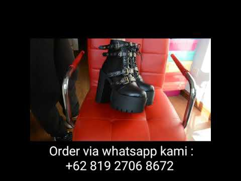 Sepatu boots wanita Import Ankle Sexy Rivet 32841035707