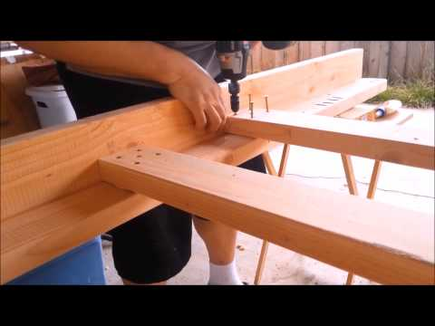 Woody Wednesday: My 1st DIY Full Size Bunk Bed - YouTube