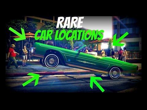 Gta Online All Very Rare Car Locations Rare And Secret