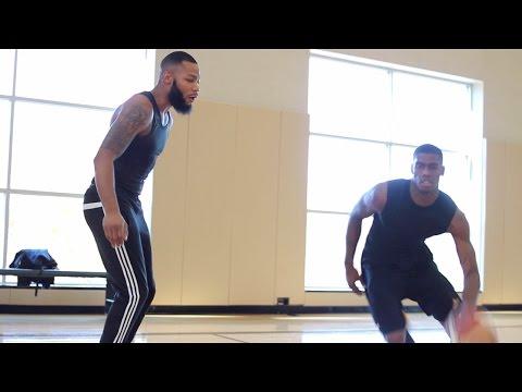 Darryl Robinson Basketball Training Session With Abe Millsap