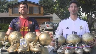 Cristiano Ronaldo vs Messi - Trophy Battle  In Real Life