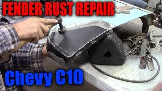 Fender Bottom Rust Repair Chevy C10
