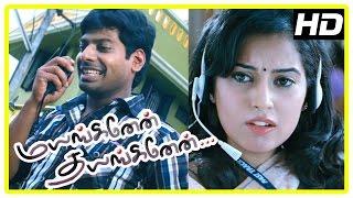 Mayanginen Thayanginen Tamil movie | scenes | Nithin saves Disha's bag and returns to her