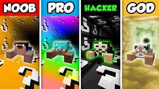 Minecraft NOOB vs. PRO vs. HACKER vs GOD: LUCKY BLOCK TUNNEL CHALLENGE in Minecraft!