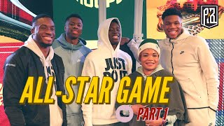 "Thanasis, Giannis, Kostas & Alex at ""Coming to America"" launch 