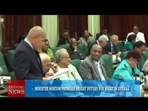 MINISTER NORTON PROMISES BRIGHT FUTURE FOR SPORT IN GUYANA -07-12-2017