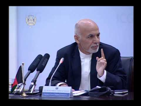 "President Ghani's remarks at a gathering ""International Contact Group on Afghanistan"""