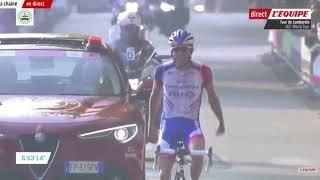 IL Lombardia 2018 Finish Thibaut Pinot infront of Vincenzo Nibali