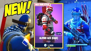 WINTER OLYMPIC IN FORTNITE!! NEW ALPINE ACE SKINS GAMEPLAY