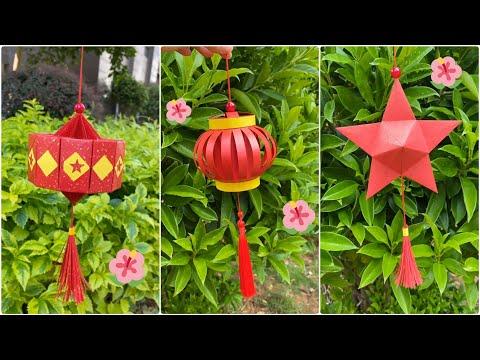 Làm lồng đèn giấy trang trí Trung Thu siêu đẹp dễ dàng | Origami • paper lanterns | Foci