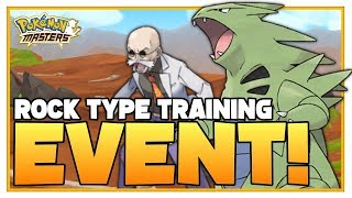 POKEMON MASTERS | New Rock Type Training Event | AWESOME NEWS!
