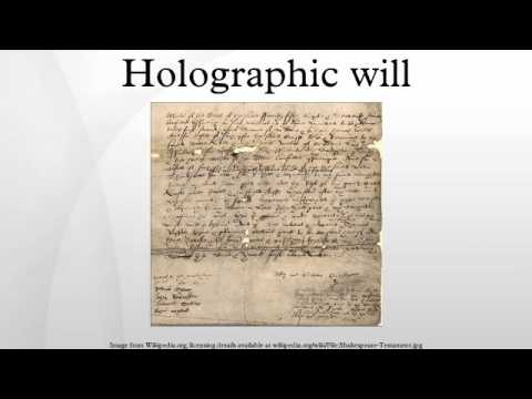 Holographic will - YouTube