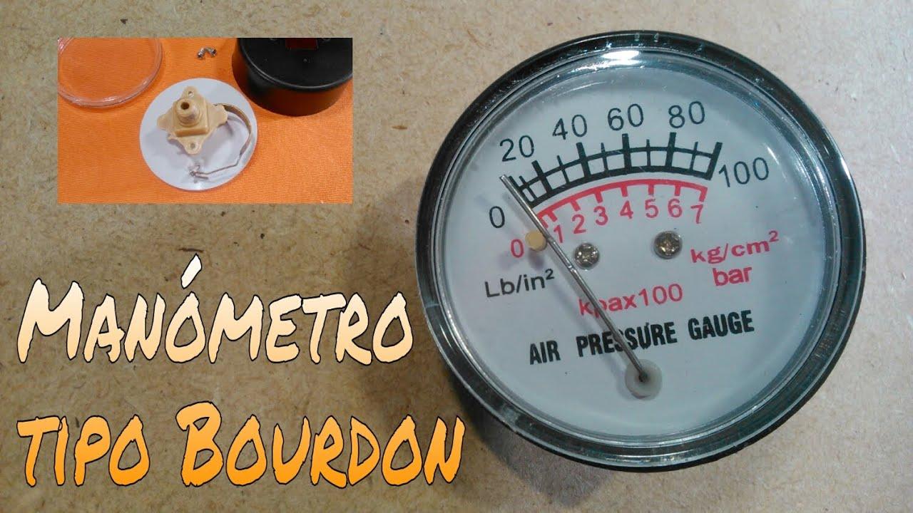 C mo funciona un man metro tipo bourdon desarmando para for Manometro para medir presion de agua