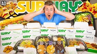 Trying EVERYTHING on the SUBWAY MENU *Crazy Food Challenge*