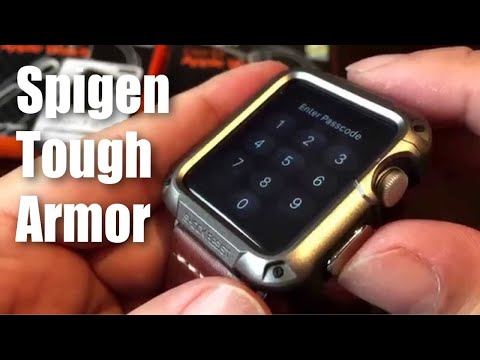 brand new 8b006 b0a69 Spigen Tough Armor gunmetal protector case for the 42mm Apple Watch ...
